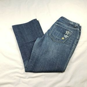 Tommy Hilfiger Embroidered Stars Boot Cut Low Rise